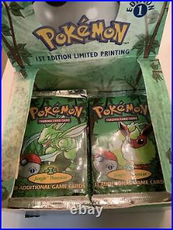 1999 Pokemon Jungle 1st Edition Booster Box 30 New Packs (11 HEAVY!) English Lot