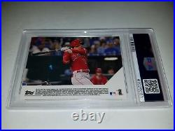 2018 Topps Now #72 Shohei Ohtani RC First MLB Triple PSA 10 Gem Mint Sold Out