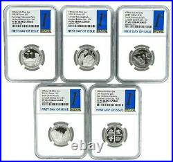 2019 S Limited Edition Silver Quarter Set NGC PF70 First Day with10 Coin Blue Case