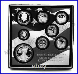 2019 S US Limited Edition Silver Proof Set OGP (First all. 999 silver) 8 coins
