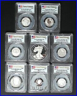 2020 S SILVER PROOF SET LIMITED EDITION First Strike PCGS PR70 8 Coins