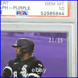 2020 Topps Now Luis Robert AUTO Purple #11C /25 FIRST CAREER HIT- PSA 10 POP 1