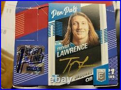 2021 Panini Elite Trevor Lawrence Auto Gold Ink Pen Pals 1st Off The Line Rc