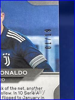 20-21 Chronicles Soccer Cristiano Ronaldo 1st Print #01/19 Fotl Pink Wave Prizm