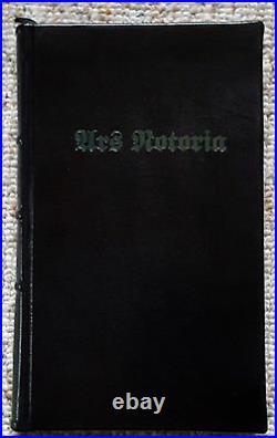 ARS NOTORIA Trident Leather Ltd 1st Ed Grimoire Solomon Black Magic Occult RARE