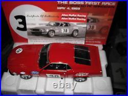 DDA 1/18 ALLAN MOFFAT #38 1969 FORD BOSS 302 MUSTANG TRANS AM COCA COLA 1st RACE