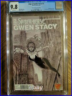 Edge of Spider-Verse 2 CGC 9.8 Comic Bug variant limited to 1500 1st Spider Gwen