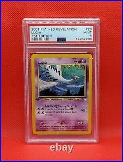 First Edition Lugia Psa 9 Rare 1st Ed Neo Revelation Set Original Pokemon 20/64