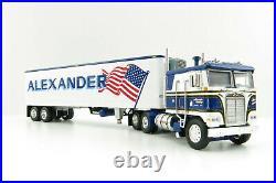 First Gear 60-0846 Kenworth K100 COE Truck 40' Reefer Alexander Trucking 164