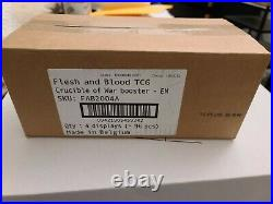 Flesh and Blood TCG Crucible of War case (4 Booster Boxes) SEALED 1st Edition