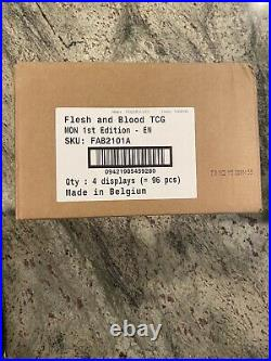 Flesh and Blood TCG Monarch Case (4 Boxes) Alpha First Edition Factory Sealed
