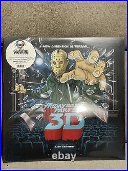 Friday the 13th Part 3 Vinyl LP Waxwork OOP 1st Press Colored vinyl Jason Horror