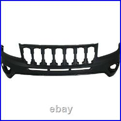 Front Upper Bumper Cover For 2011-2016 Jeep Compass with fog lamp holes Primed