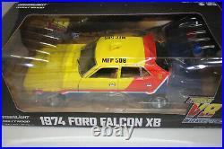 GREENLIGHT 1/18 MAD MAX FORD XB FALCON MFP SEDAN 1st OF THE V8 INTERCEPTORS WithB