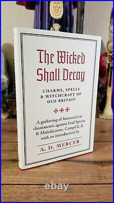 Hardcover 1st Ed THE WICKED SHALL DECAY Mercer Occult Grimoire Witchcraft