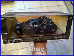 Hot Wheels Batman Begins Batmobile Tumbler 1/18 2004 First Release-NIB GRADE IT