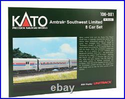 KATO 106081 N Amtrak SW LTD Phase1 1ST Class 8-CarSet withDisplay Unitrak 106-081