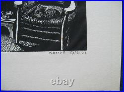 MILLIONS OF CATS wi ORIGINAL ENGRAVING BOTH SIGNED by WANDA GAG 1st Ltd Ed