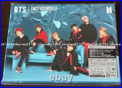 New BTS FACE YOURSELF Limited Edition B & C Set CD+DVD+Booklet+Sticker Japan