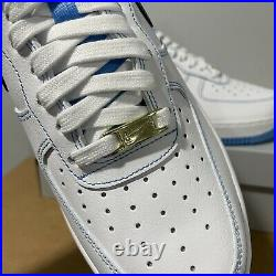 Nike Air Force 1 07 Low AF1 First Use White Blue DA8478-100 Mens Size 8.5 New