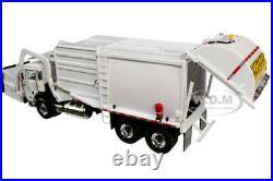 PETERBILT 520 GARBAGE TRUCK WithFRONT LOADER & BIN WHITE 1/34 FIRST GEAR 10-4193