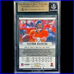 Peyton Manning 2012 Prizm 2/10 Gold BGS 9.5 Gem 1st Year Prizm & Broncos RC