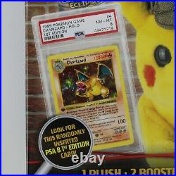Pokemon Detective Kit Mystery Box Plush Booster Packs PSA 1st Charizard