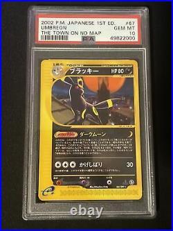 Psa 10 Gem Mint Umbreon Town On No Map 1st Edition 067/092 Pokemon Japanese