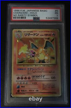 Psa 1 POOR Charizard Holo Base Set No Rarity 1st Edition Pokemon Card #6