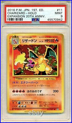 Psa 9 Mint Charizard Base Set 1st Edition Japanese 20th Anniversary CP6 Pokemon