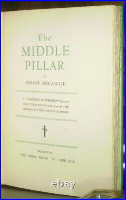 RARE, 1938, 1st EDITION, 1 of 350, THE MIDDLE PILLAR, by ISRAEL REGARDIE, OCCULT