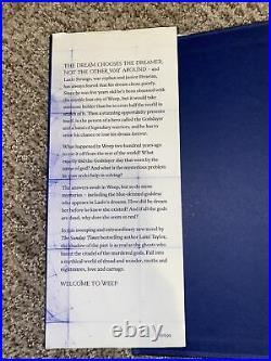 Strange the Dreamer by Taylor, Laini Book Signed! 1st Ed 1st Imprint! Rare