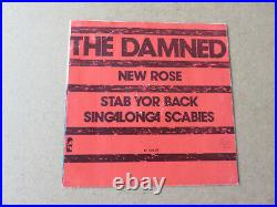 THE DAMNED New Rose / Stab Yor Back STIFF 1977 BENELUX 1ST PRESSING 7 17704AT