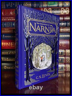 The Chronicles Of Narnia by C. S. Lewis Rare Leather Bound Hardback 1st Printing