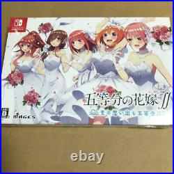 The Quintessential Quintuplets First Limited Edition Nintendo Switch NEW FedEx