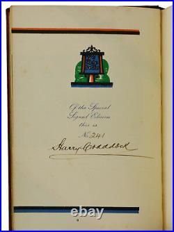 The Savoy Cocktail Book HARRY CRADDOCK Signed Limited First Edition 1st 1930
