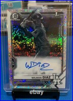 Wilman Diaz 1st Bowman Chrome Black&White Mini Diamond on Card Auto SSP